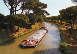 CPM Le Canal Du Midi Péniche Canal-Boat Barge Transport Maritime Ou Fluvial - Houseboats