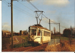 Ligne 80  SNCV  --  Motrice Type S 9131  à  Gosselies.  (2 Scans) - Charleroi