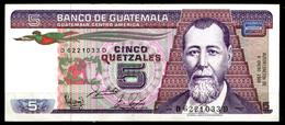 00071 - Guatemala: Banconota Da 5 Quetzal Del 1988 - FDS - Guatemala