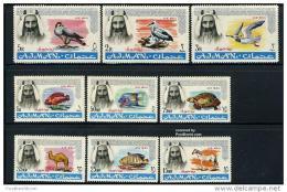 AJMAN  1965  Fauna, Birds, Fishes, Horses  9v. Perf. - Timbres