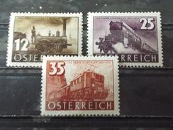 Série 3 Timbres Neuf AUTRICHE 1937 : Centenaire Des Chemins De Fer Autrichiens - 1918-1945 1ère République