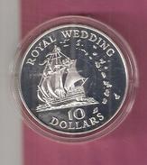 EAST CARIBBEAN TERRITORIES 10 DOLLARS 1981 SILVER PROOF HUWELIJK CHARLES & DIANA MARRIAGE - Britse Caribische Gebieden