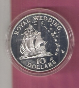 EAST CARIBBEAN TERRITORIES 10 DOLLARS 1981 SILVER PROOF HUWELIJK CHARLES & DIANA MARRIAGE - Territoires Britanniques Des Caraïbes
