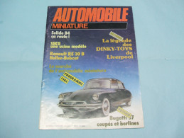 Magazine AUTOMOBILE MINIATURE N°1 Mars 1984 - Littérature & DVD