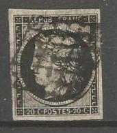 France - F1/005 - Type Cérès - N°3 - Margé - Obl.grille - 1849-1850 Cérès