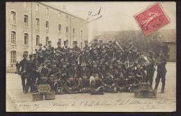 CPA 63 Carte Photo Musique De L'école Militaire Du 9° D'artillerie Et Du Genie Billom - France
