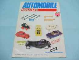 Magazine AUTOMOBILE MINIATURE N°5 Juillet Août 1984 - Littérature & DVD