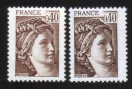 Variétés **  NEUF ** Sabine 2118 , Variété ; 1 Clair Et 1 Foncé Gommes Différentes - Abarten Und Kuriositäten