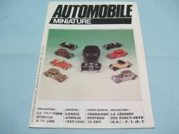Magazine AUTOMOBILE MINIATURE N°6 Septembre 1984 - Littérature & DVD