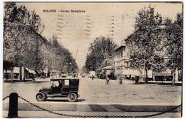 MILANO - CORSO SEMPIONE - 1929 - Vedi Retro - Formato Piccolo - Milano