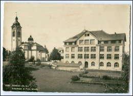T129/ Gossau St. Gallen  Schule Und Kirche AK 1965 - Suisse