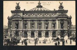 PARIS  -  CPA -L'Opéra- Bus Parisiens  - -  Recto Verso - Paypal Sans Frais - Transport Urbain En Surface
