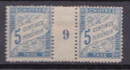N°28 Taxes Millésimés 9 : 5c Bleu  Millésimés N° 9:  Timbres  Neuf Impeccable Sans Charnière Belle Pièce - Millesimes