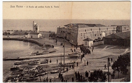 SAN REMO - IL PORTO ED ANTICO FORTE S. TECLA - Timbro Sul Retro Pubblicità SHELL Rad 1928 - Vedi Retro - Formato Piccolo - San Remo