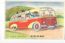 LE PUY EN VELAY (43) - Carte à Systèmes - Joyeux Souvenir Du Puy En Velay - - L 1 - Le Puy En Velay