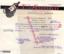 ALGERIE - ORAN - SAINT EUGENE - BELLE FACTURE F. SENECLAUZE -VITICULTEUR -1936  VIN VINS - Factures & Documents Commerciaux