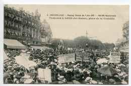 MONTPELLIER (34) - Meeting Viticole Du 9 Juin 1907 Avec 400 000 Manifestants - Le Défilé Des Gueux, Place De La Comédie - Montpellier