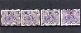 Guyane Française :  91/94 NSG (4 Timbres) - Nuevos