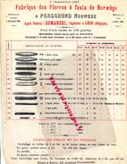 NORWEGE - NORVEGE- PORSGRUND- FABRIQUE PIERRES A FAULX-1887- DOMANSKI INGENIEUR A LIEGE BELGIQUE- - Factures & Documents Commerciaux