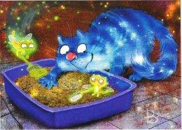 Cat Chat Katze Irina Zeniuk Blue Cats - Autres