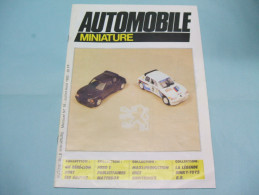 Magazine AUTOMOBILE MINIATURE Peugeot 205 Turbo N°16 Juillet Août 1985 - Littérature & DVD