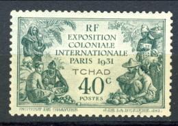 Tchad 1931 N. 56 C. 40 Verde MNH Catalogo € 10