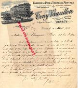 SUISSE - GENEVE- BELLE FACTURE TONY VAURILLON- J. BAUQUIS -FABRIQUE POSE VERRES DE MONTRES-HORLOGERIE-LUNETTERIE- 1911 - Switzerland