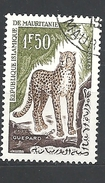 MAURITANIA 1963 Animals   ANIMALS The Cheetah (Acinonyx Jubatus) USED - Mauritanië (1960-...)