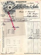 ALLEMAGNE - BELLE FACTURE BIELEFELD - S. STERN & SOHN- FABRIQUE TISSUS -1912 - Germany