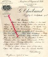 SUISSE - BOUDRY -25- PONTARLIER - LETTRE MANUSCRITE SIGNEE G. THIEBAUD- MANUFACTURE CHAPEAUX DE PAILLE- 1908 - Suisse