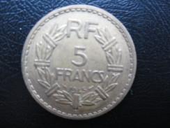 5 FRANCS LAVILLIERS Bronze 1945 C - Francia