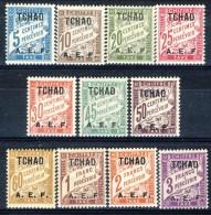 Tchad Tasse 1928 Serie N. 1-11 MNH Catalogo € 31,50