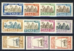 Tchad Tasse 1930 Serie N. 12-22 MH Catalogo € 75