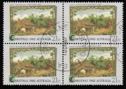 AUSTRALIA - Scott #839 Ferst Australian Christmas Card / Used Block Of 4 (bk956) - Blocks & Kleinbögen