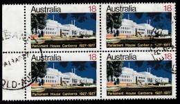 AUSTRALIA - Scott #667 Parliament House, Canberra / Used Block Of 4 (bk959) - Blocks & Kleinbögen
