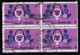 AUSTRALIA - Scott #428 World Congress Of Gynecology & Obstetrics / Used Block Of 4 (bk964) - Blocks & Kleinbögen