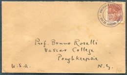1924 Brazil American Embassy Rio De Janeiro Cover - Vasser College, Poughkeepsie, USA - Covers & Documents