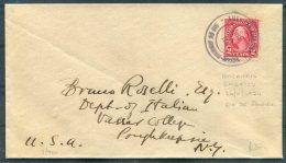 1924 Brazil American Embassy Rio De Janeiro Cover -Dept. Of Italian, Vasser College, Poughkeepsie, USA - Covers & Documents