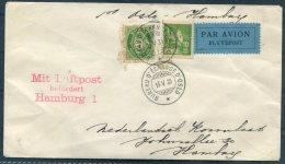 1930 Norway Oslo - Hamburg First Flight Cover - Dutch Consul. L3 Mit Luftpost, Niederlandische Konsulat, Holland - Lettres & Documents