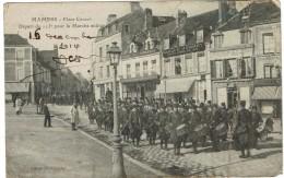 CPA - 72 - MAMERS - Place Carnot - Départ Du 115ème Pour La Marche Militaire - Dans L'état - - Mamers