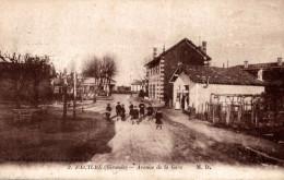 FACTURE AVENUE DE LA GARE CPA ANIMEE - France