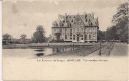 CPA Animée Belgique Les Environs De Bruges Oostcamp Château Gruuthuuse - Oostkamp