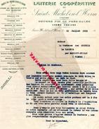 85 -SAINT MICHEL EN L' HERM - FACTURE LAITERIE COOPERATIVE-BEURRE PRES SALES- COMTESSE DES COURTIS MARIGNY BRIZAY 1913 - France