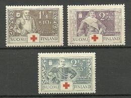 FINLAND FINNLAND 1934 Michel 184 - 186 Kriegshelden MNH - Finland