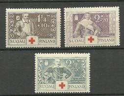 FINLAND FINNLAND 1934 Michel 184 - 186 Kriegshelden MNH - Ongebruikt