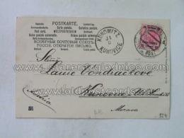 Philatelie 124 Jerusalem Kunowitz Kunovice Oesterr Post - 1858-1921 Impero Ottomano