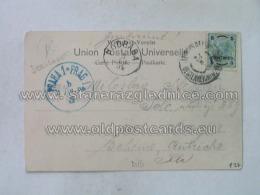 Philatelie 127 Jerusalem Praha Prag Osterreichische Post - Storia Postale
