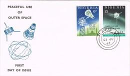 20059. Carta F.D.C. LAGOS (Nigeria) 1963. Placeful Ise Of Space - Briefe U. Dokumente