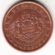 MONACO 2001 . 5 CENTIMOS  EBC POCO CIRCULADA.MUY BONITA   CN4493 - Monaco