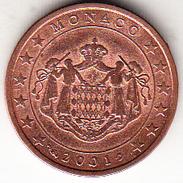 MONACO 2001 . 2 CENTIMOS  EBC POCO CIRCULADA.MUY BONITA   CN4493 - Monaco